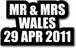 Mr and Mrs Custom wordprop with date