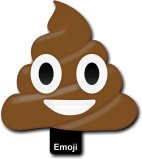 Emoji Hand Held Photo Booth Prop Pile of Poo