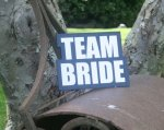TEAM BRIDE LARGE WORD PROP