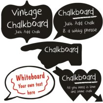 Real Chalk Boards and White Boards