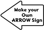 Make your own custom arrow quickly and easily  font: adventuring