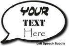 Customisable Speech Bubble - Left