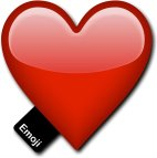Emoji Red Heart Photo booth Prop