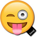 Emoji Prop Tongue out Winking