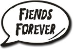 Fiends Forever Halloween Speech Bubble