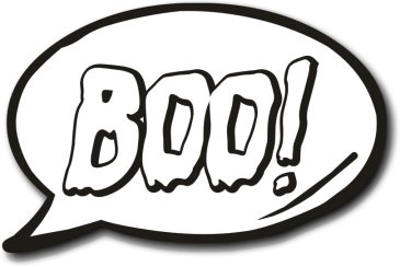 Halloween Photo Booth Prop Speech Bubble Boo