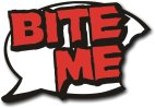 Bite Me Photo Booth prop for Halloween Vampires