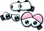 Cartoon Eyes No3 Set of 3 Photo booth props