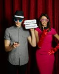 Fun in the photo booth - you've finally found each other