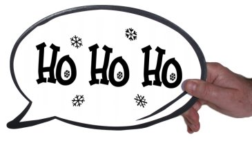 Ho Ho Ho Photo Booth Prop Speech Bubble