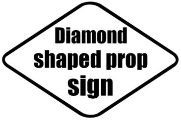Design your own diamond shaped photo booth prop
