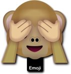 Emoji Monkey See no Evil Photo Prop Sign