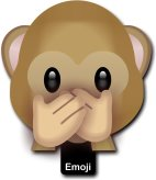 Speak No Evil Emoji Photo Prop