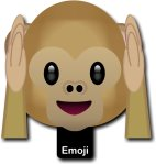 Emoji Monkey Hear No Evil Photo Sign