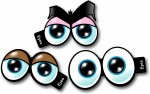 Cartoon Eyes No2 Set of 3 Photo booth props