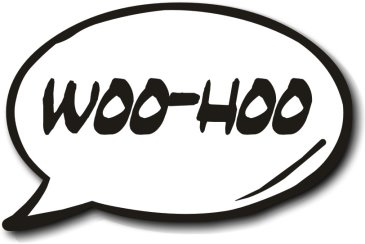 Woo-Hoo Speech Bubble