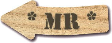 28cm wooden laminated MDF wedding sign