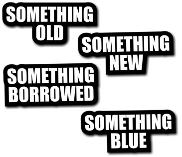 includes Something Old, Something New, Something Borrowed and Something Blue