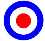 Make concentric circles using clip art circles.  This one is a mod symbol
