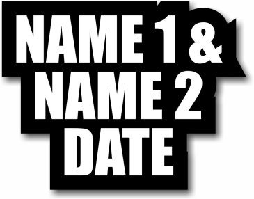 Name 1 and Name 2 with Date