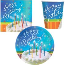 Sparkle Wishes Birthday Tableware