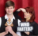 Who Farted word prop with Pile Of Poo Emoji Prop