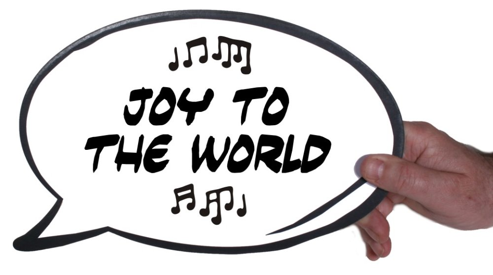 Festive Party Photo Booth Prop Joy To The World Speech Bubble For