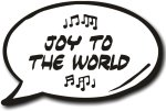 Joy to the World Photo booth prop speech bubble