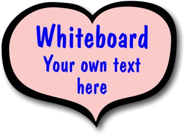 Pink Heart Shaped Whiteboard