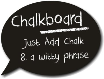 Real chalkboard Speech Bubble