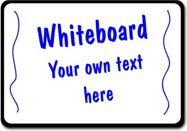 Whiteboard with Handle for writing your own messages in your photos