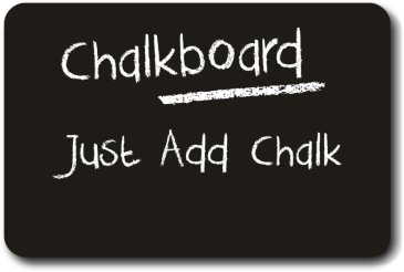 Rounded Rectangle Real Chalkboard with Handle (28cm)