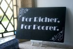 For Richer For Poorer Silent Movie Board photo booth prop