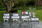 Team Bride Team Groom Selfie Signs