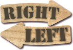 Wood - Right and Left