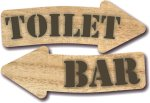 Wood - Toilet and Bar