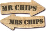 Wood - Mrs and Mrs Chips
