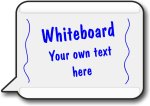 Text Bubble Shaped Whiteboard - write where the blue letters are