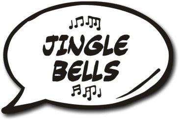 Jingle Bells Photo Booth Speech Bubble