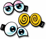 Pack No4 Set of Three Cartoon Eyes photo booth props