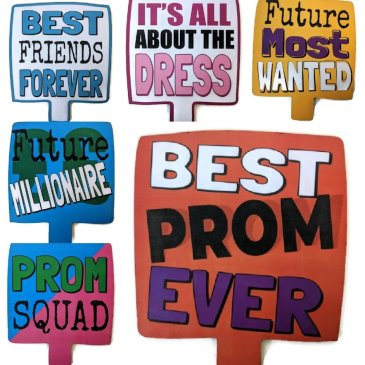 3 double sided prom props