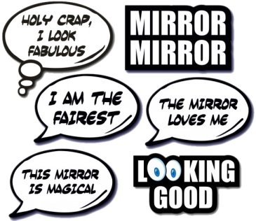 Set of 6 Mirror Booth Props
