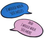 Pair or romantic speech bubbles