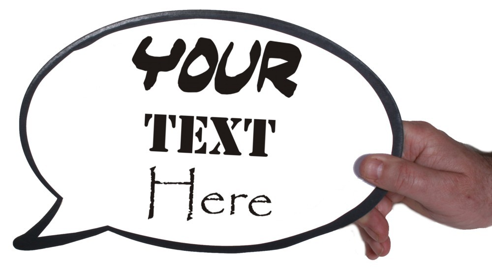 customise your own speech bubble to make your own photo booth prop. Black Bedroom Furniture Sets. Home Design Ideas