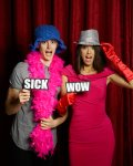 Fun in the photo booth with #wordprops SICK and WOW