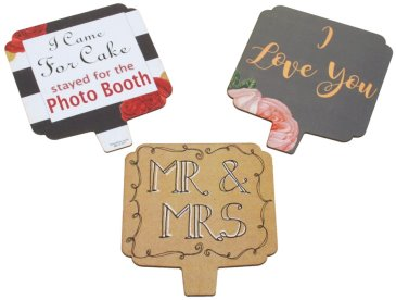 Side TWO of double sided romantic photo booth props