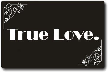 True Love Silent Movie Board