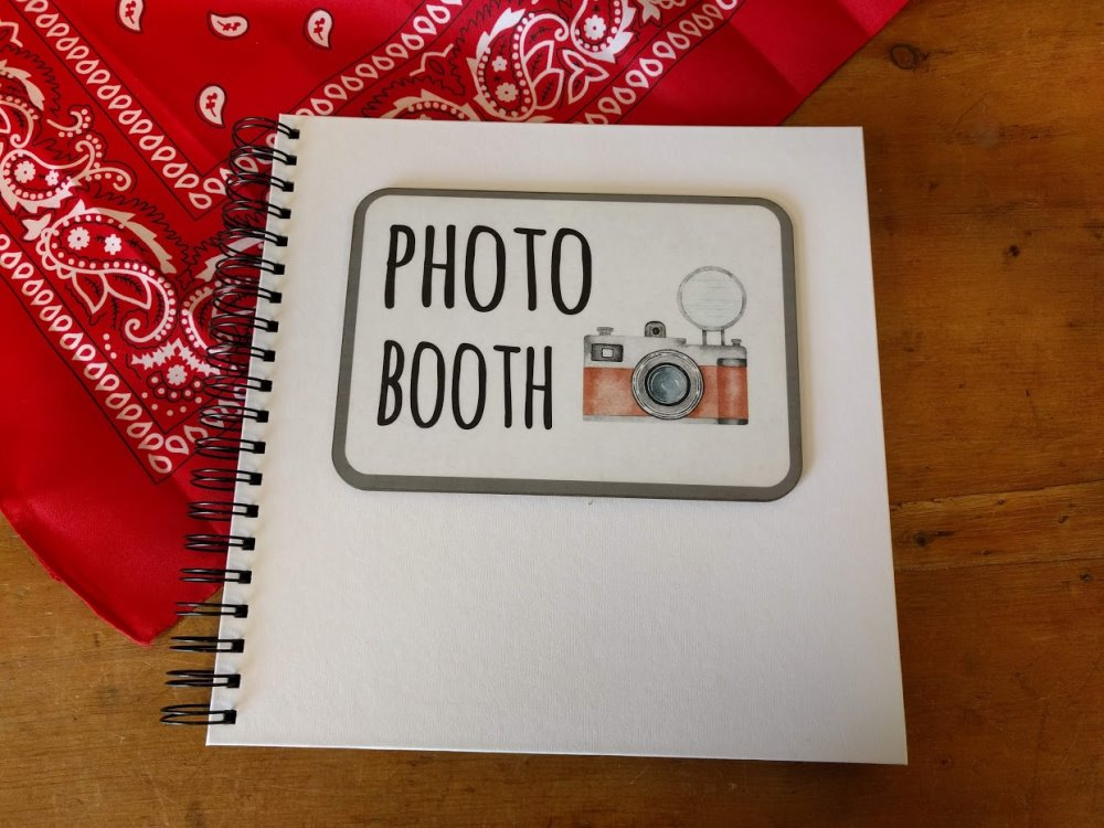 Photo Booth Scrap Book Album Guest Book For Prints And Guest Messages