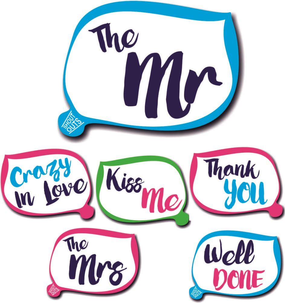 Quality Double Sided Wedding Photo Booth Signs For The New Mr And