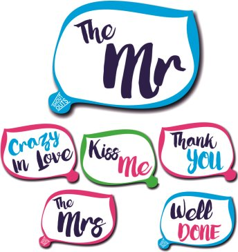 3 double sided wedding Shout Outs